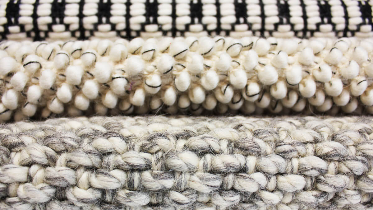 Hand-woven Milaana rug detail